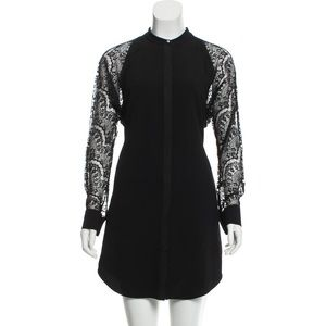 RACHEL BY RACHEL ROY Lace Trim Mini Dress